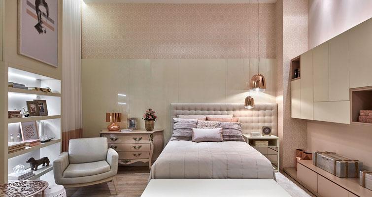 Papel de parede: quarto.
