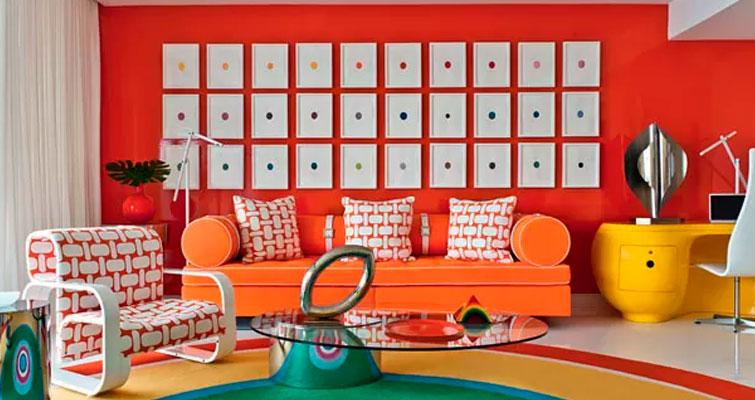 Conheça esse apartamento com decoração em cores cítricas.